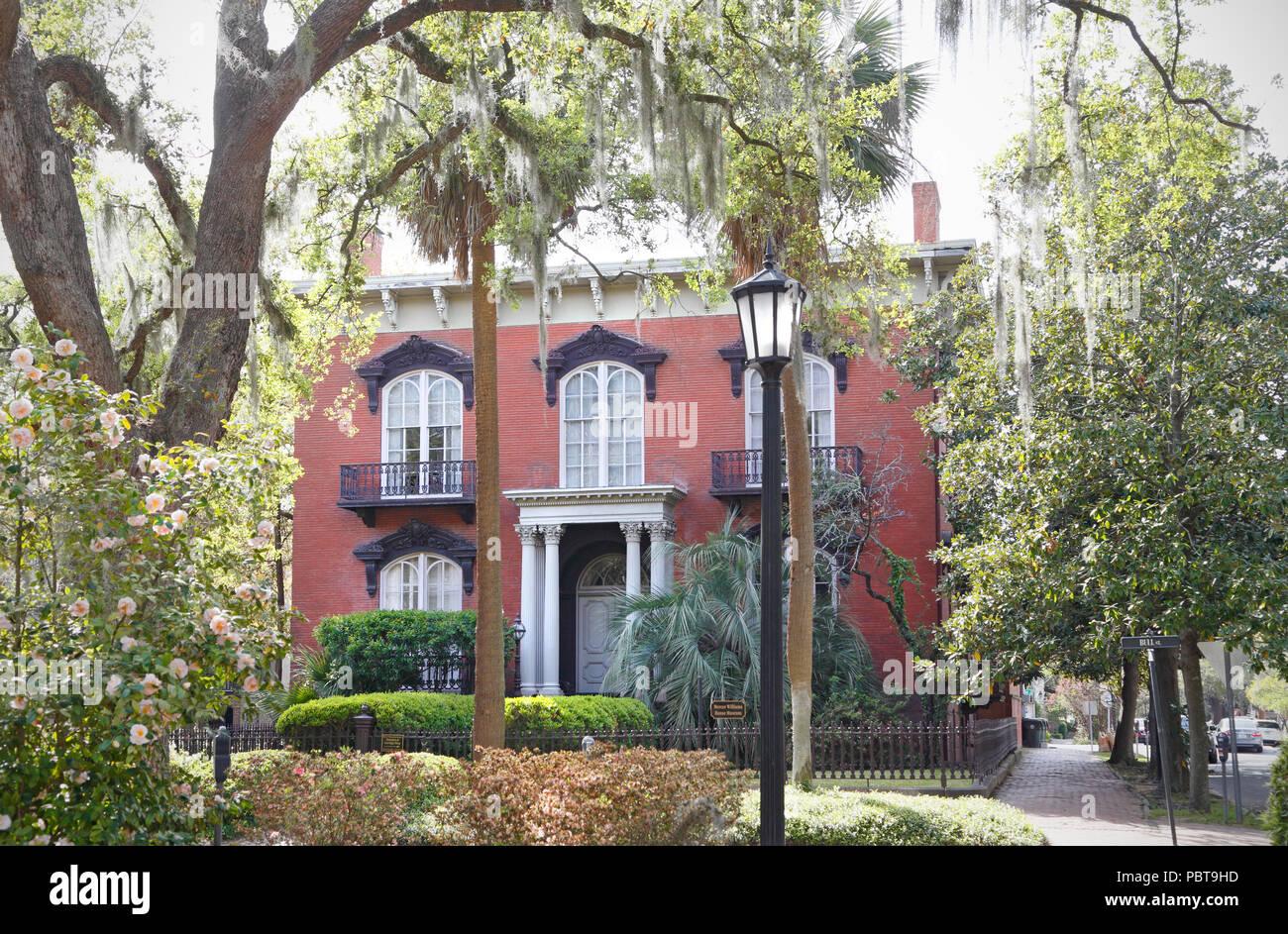 Savannah Georgia The Mercer House Now Called Mercer Williams