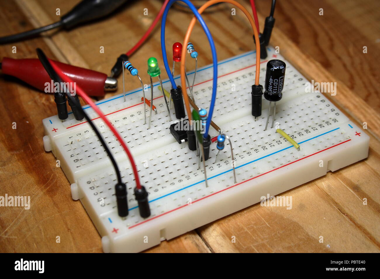 Electronic Circuit Hobby Project Stock Photo 213823568 Alamy Projects For Beginners Circuits