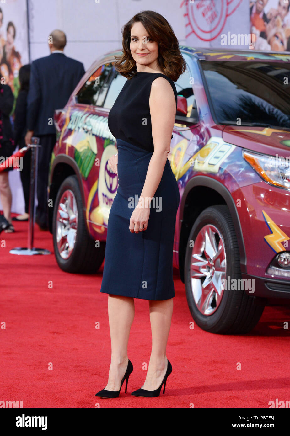 Tina Fey arriving at the Muppets Most Wanted Premiere at the