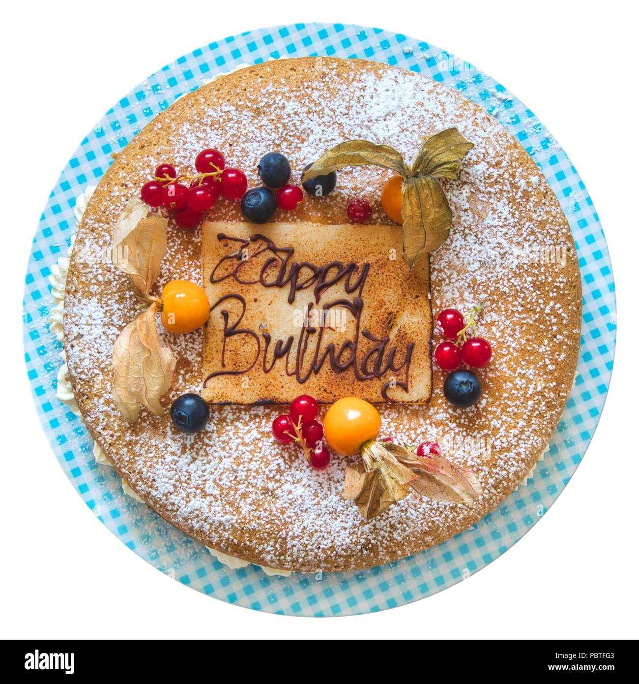 Pleasant Birthday Cake Sponge With Frosting Filling And Decorated With Personalised Birthday Cards Veneteletsinfo