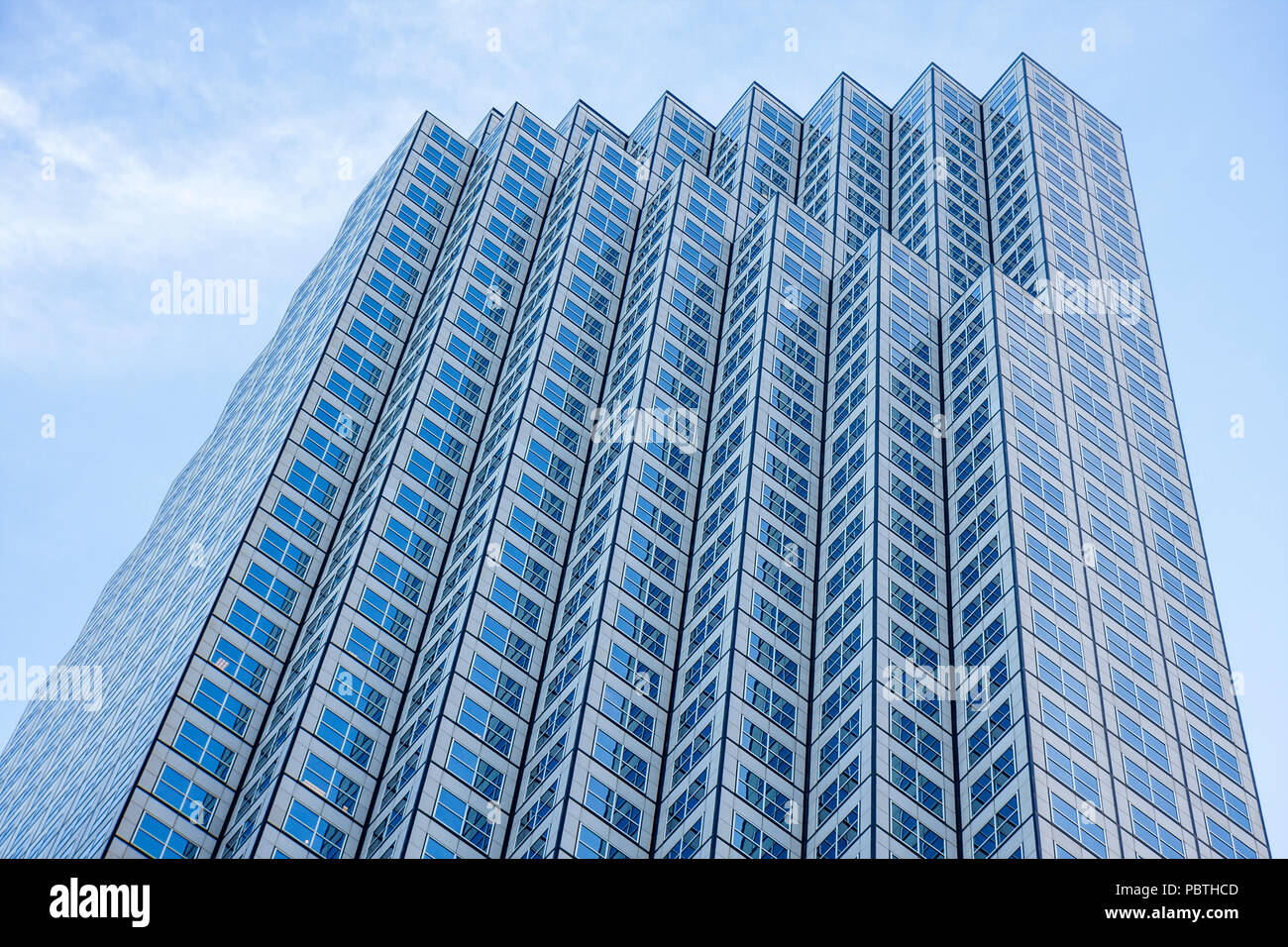 Miami Florida downtown Southeast Financial Center Architect Skidmore Owings and Merrill skyscraper tower office building windows - Stock Image