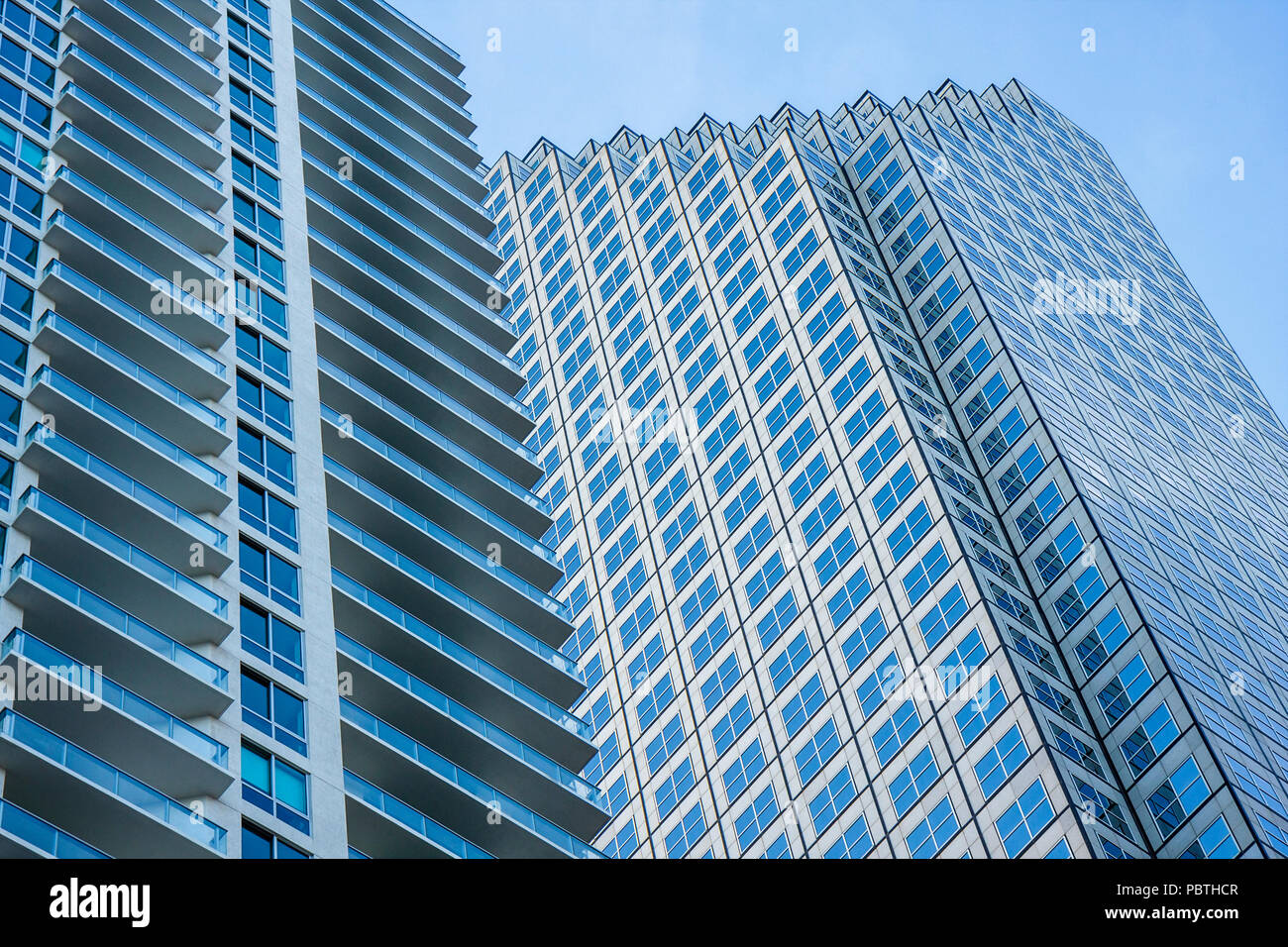 Miami Florida downtown Southeast Financial Center Architect Skidmore Owings and Merrill skyscraper tower office building high ris - Stock Image
