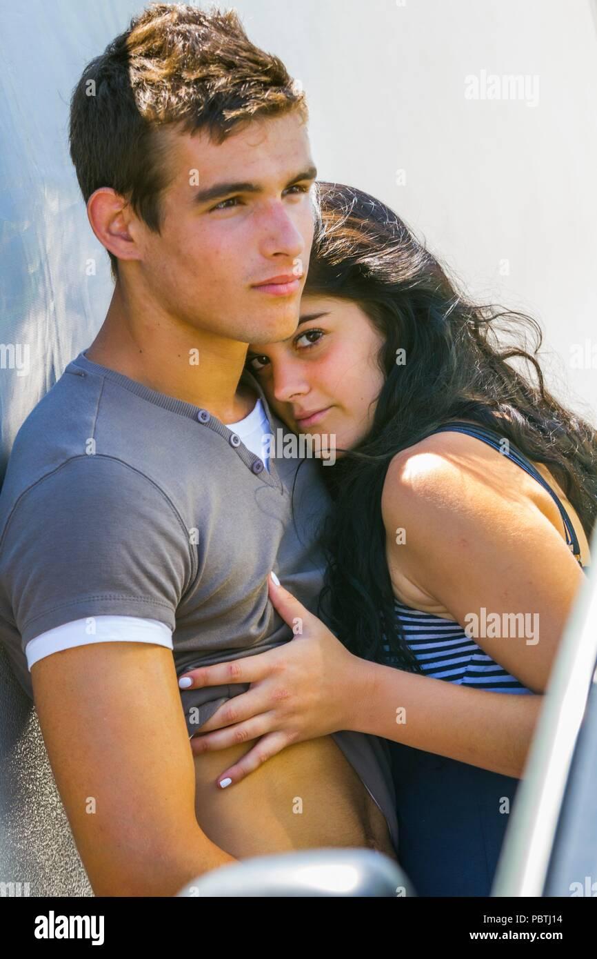 Young couple closeness Stock Photo