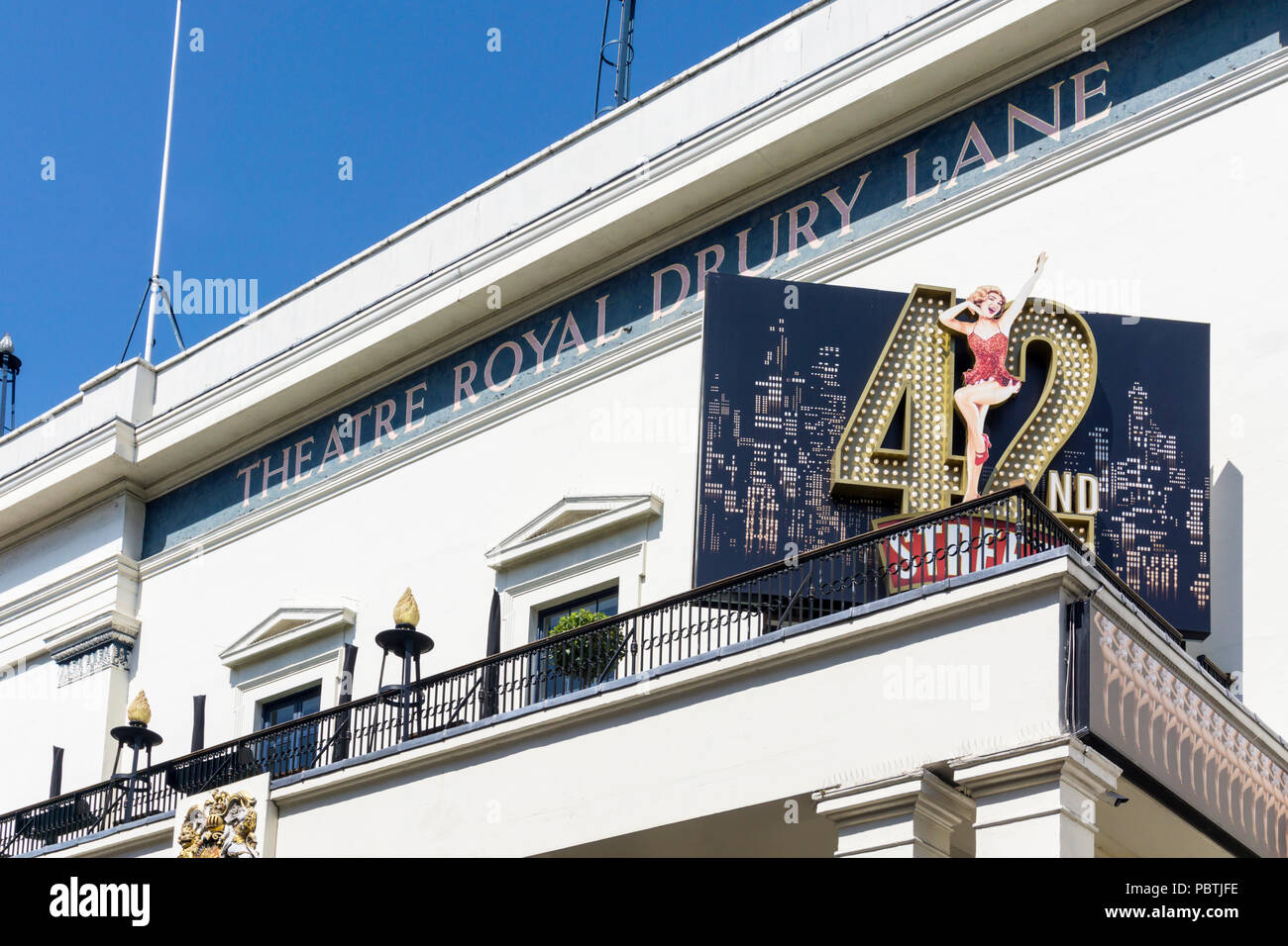 The musical 42nd Street at the Theatre Royal Drury Lane in the West End of London. - Stock Image