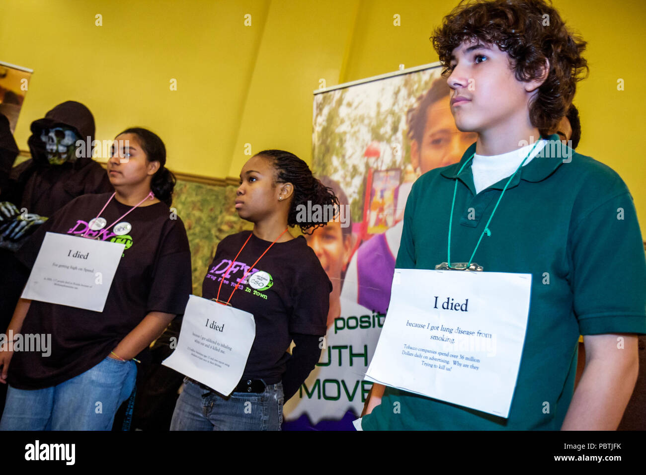 Miami Florida Leadership Training Conference DFYIT Drug Free Youth In Town anti addiction nonprofit organization student student - Stock Image