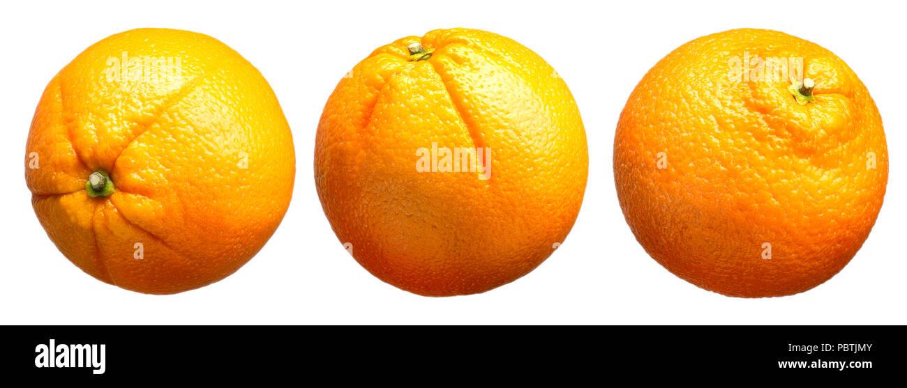 Group of oranges fruit isolated on white background Stock Photo