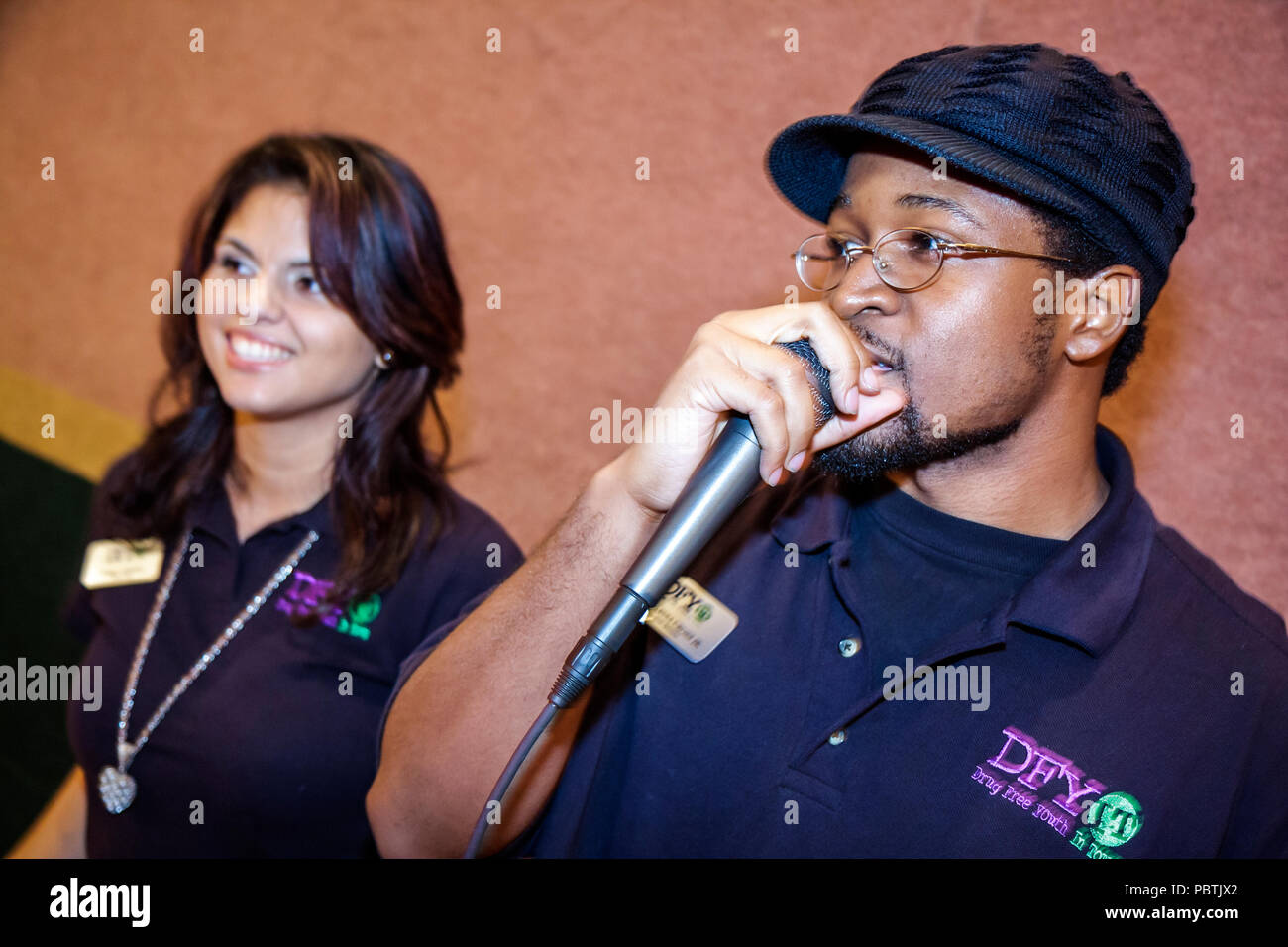 Miami Florida Leadership Training Conference DFYIT Drug Free Youth In Town anti addiction nonprofit organization counselor couns - Stock Image