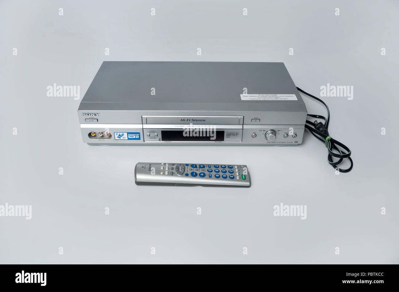 A Sony VHS Video Cassette Recorder or VCR - Stock Image