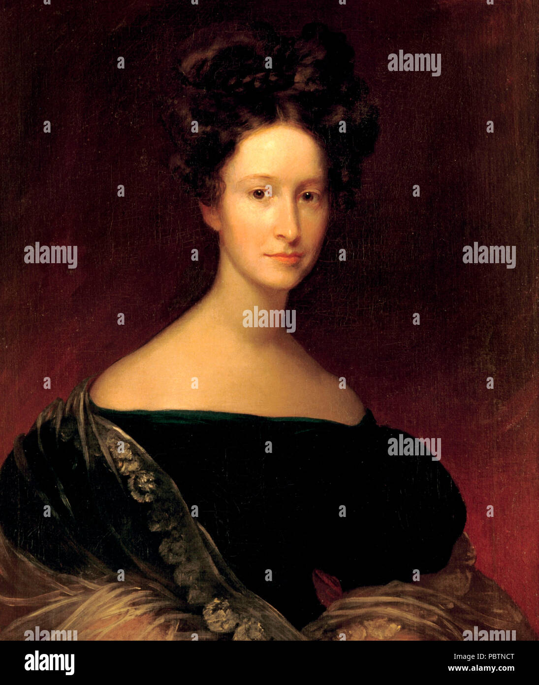 Emily Donelson, niece of US President Andrew Jackson and unofficial hostess of the White House. - Stock Image