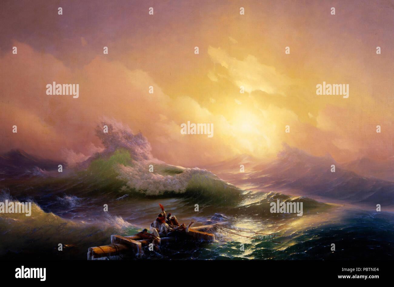The Ninth Wave - Hovhannes Aivazovsky - Stock Image