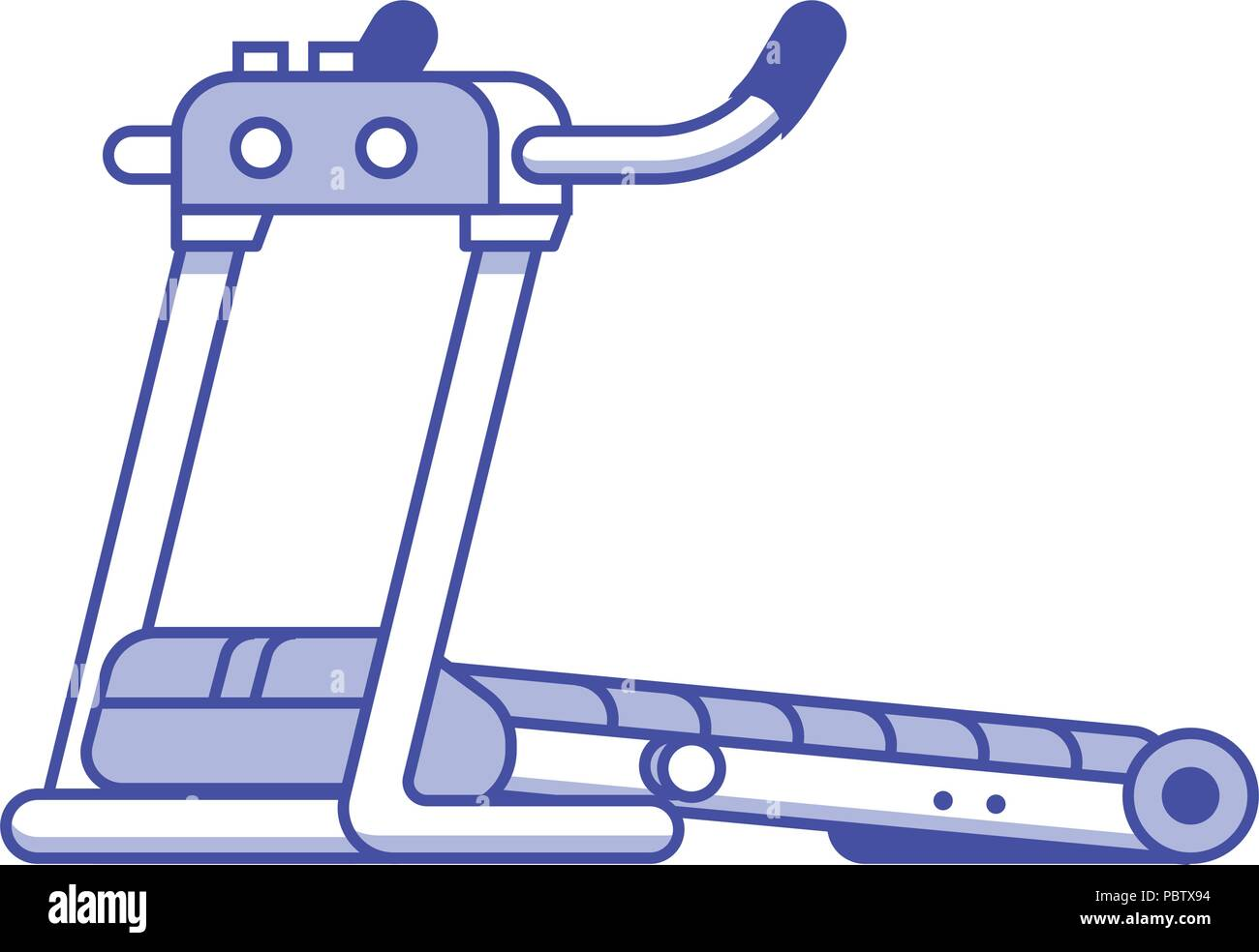 Running Treadmill Icon - Stock Vector