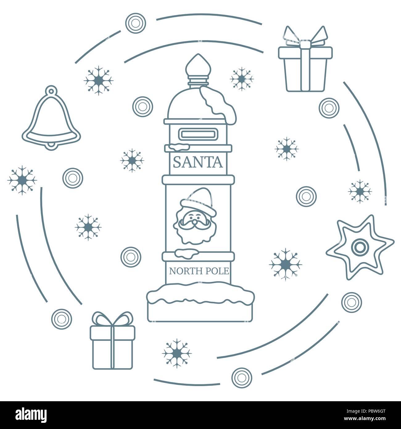 Santas Mailbox Gifts Bell Gingerbread Star Snowflakes New