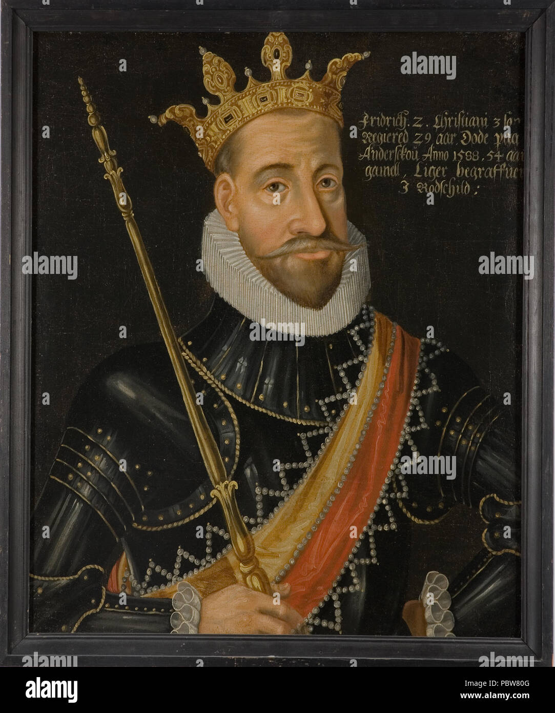 21 Fredrik II, 1534-88, konung av Danmark och Norge - Nationalmuseum - 14757  Stock Photo - Alamy