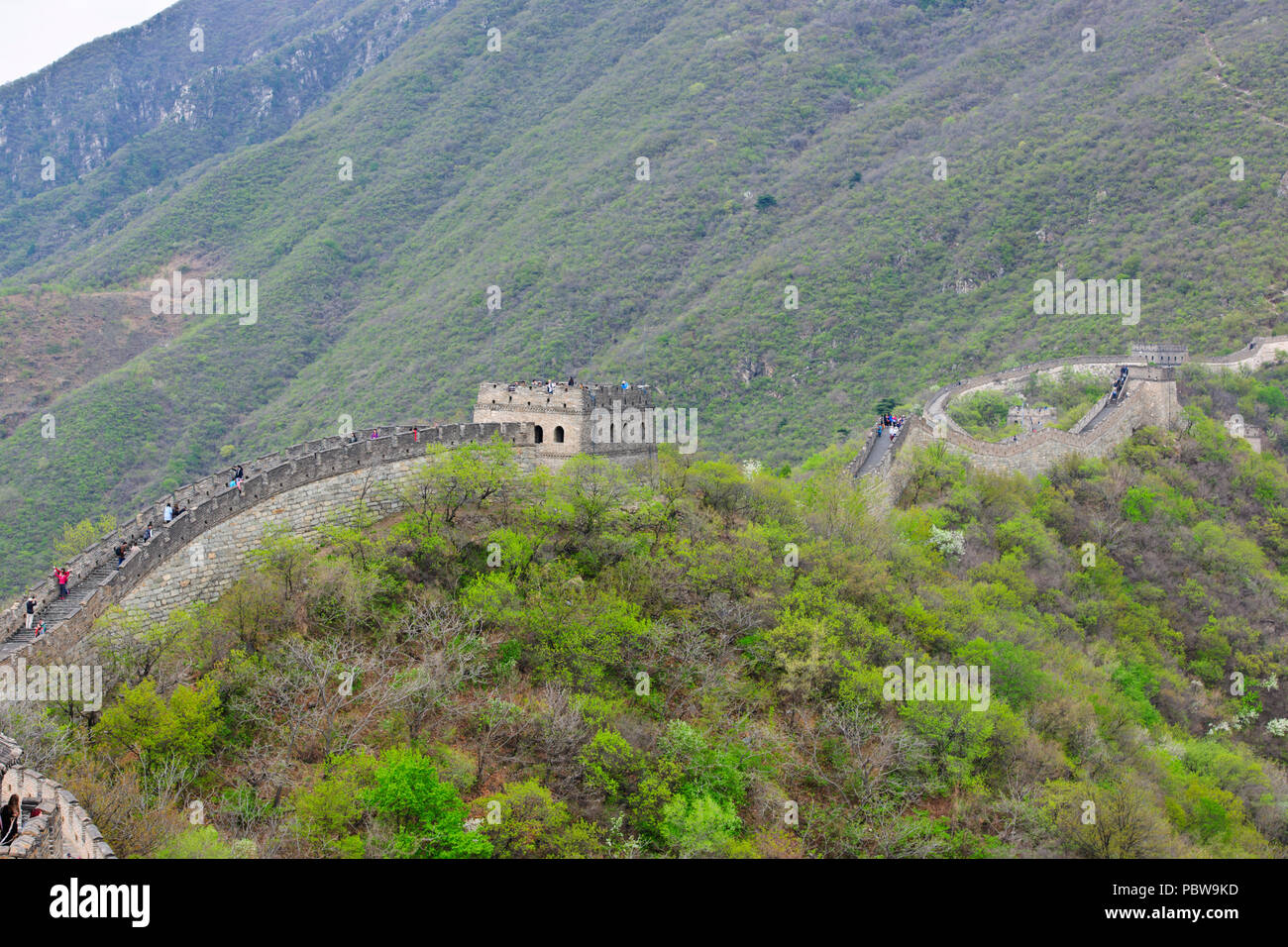 Great Wall of China,Mutianyu Section,Less Visited,Near Beijing,PRC,People's republic of China,China Stock Photo