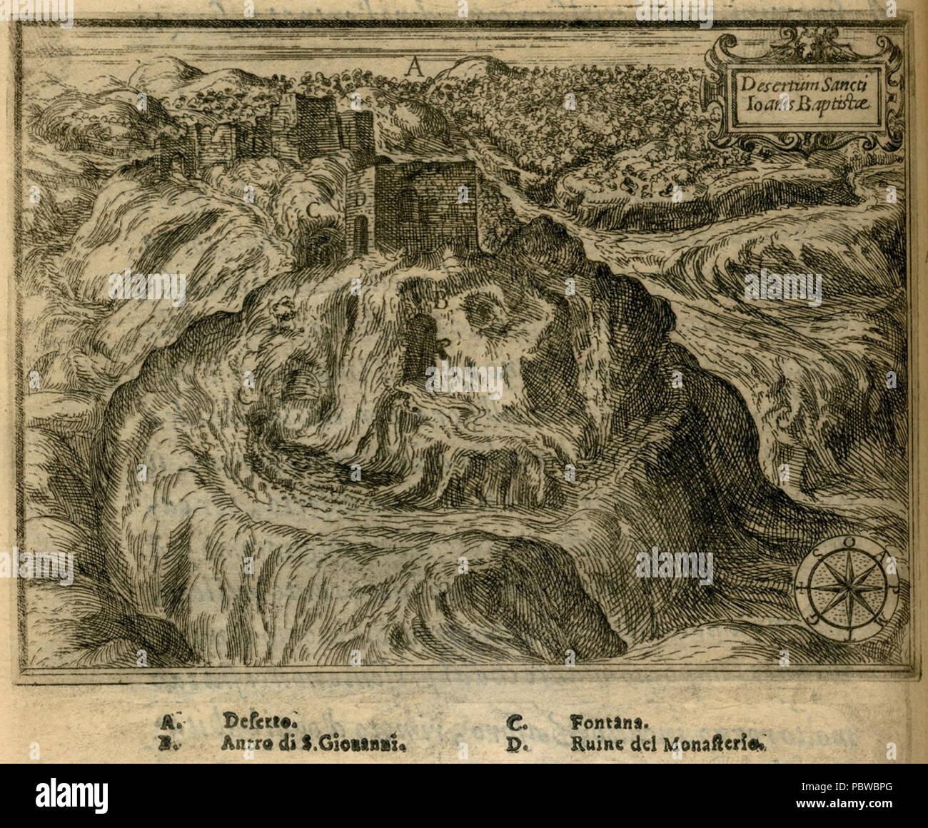 160 Desertum Sancti Ioanis Baptistae - Zuallart Jean - 1587