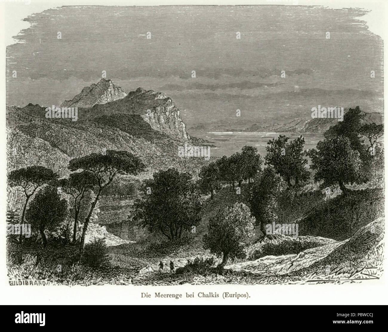 163 Die Meerenge bei Chalkis (Euripos) - Schweiger Lerchenfeld Amand (freiherr Von) - 1887 Stock Photo