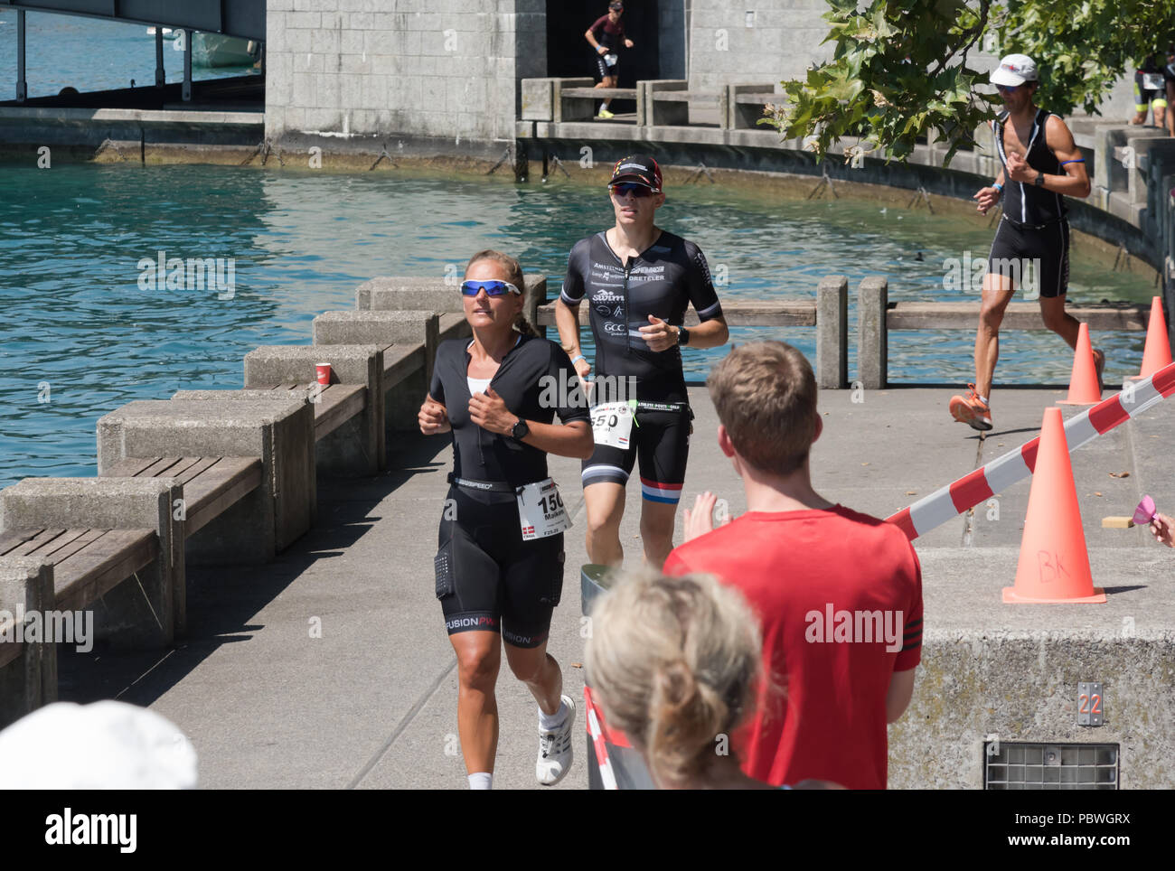 The Switzerland, 2018, Ironman Triathlon: Running course  A