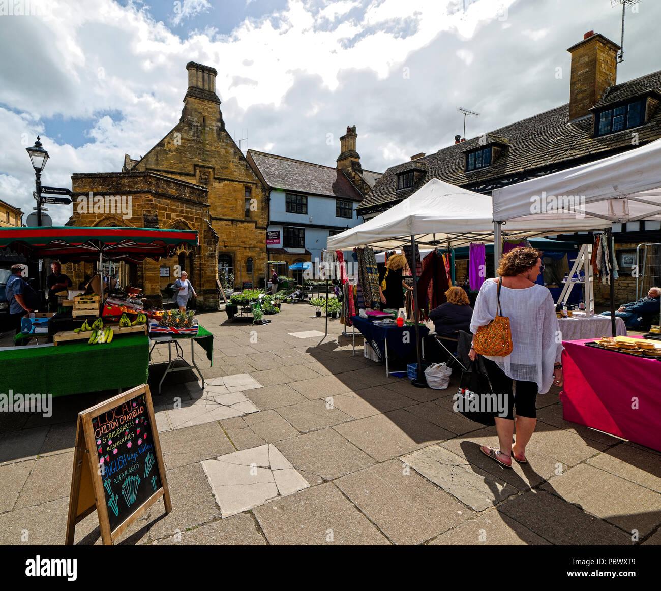 Street scene in Sherborne; a market town in Dorset England UK - Stock Image