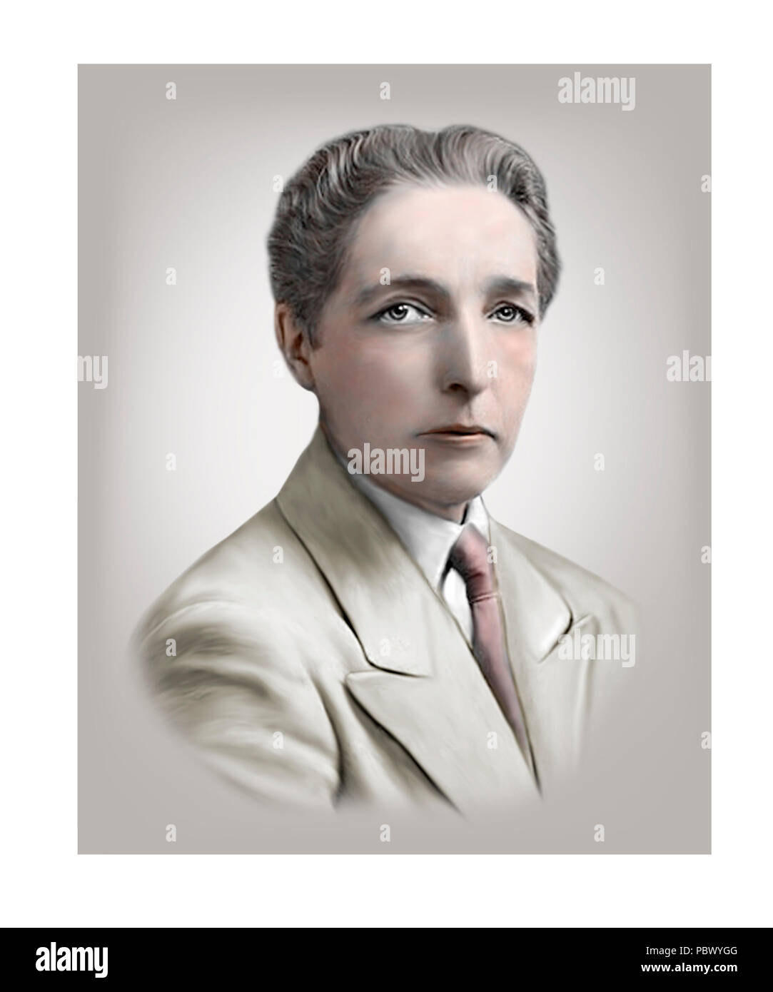 Radclyffe Hall  1880 - 1943  English Poet Author - Stock Image