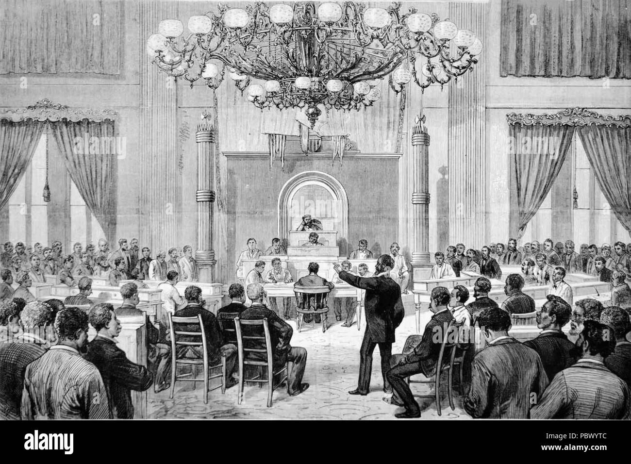 COLORED CONVENTIONS MOVEMENT. The Nashville Convention of 5-7 April 1876 as shown in Frank Leslie's Illustrated Newspaper Stock Photo
