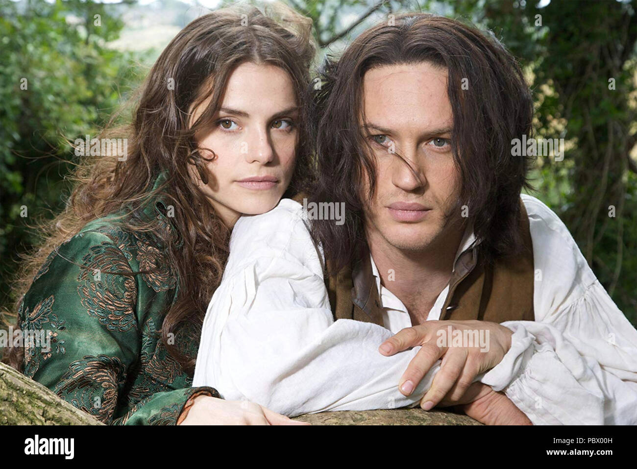WUTHERING HEIGHTS  2009 ITV TV series  with Tom Hardy and Charlotte Riley - Stock Image