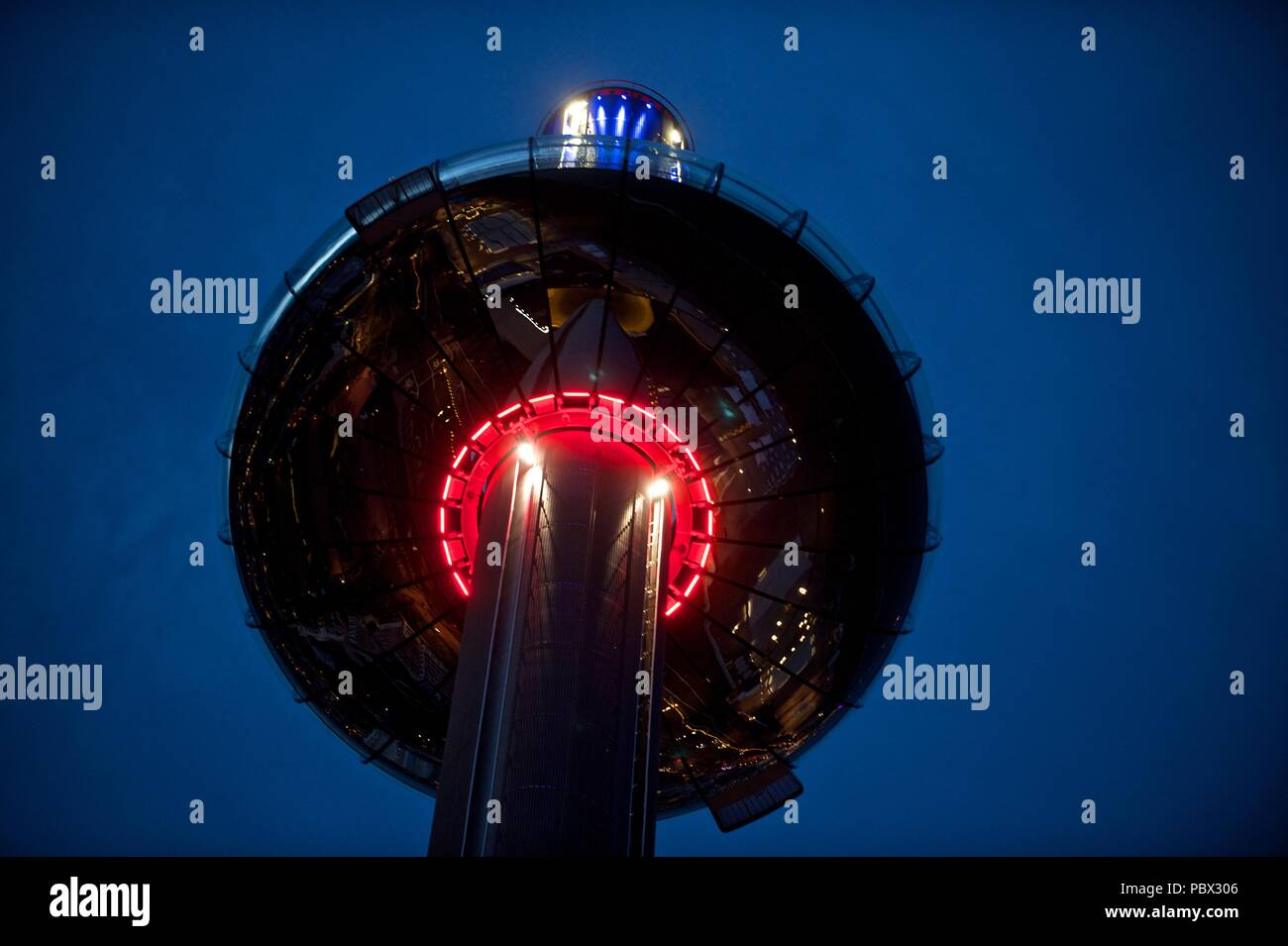 British Airways i360, Brighton seafront, summer 2018 - Stock Image