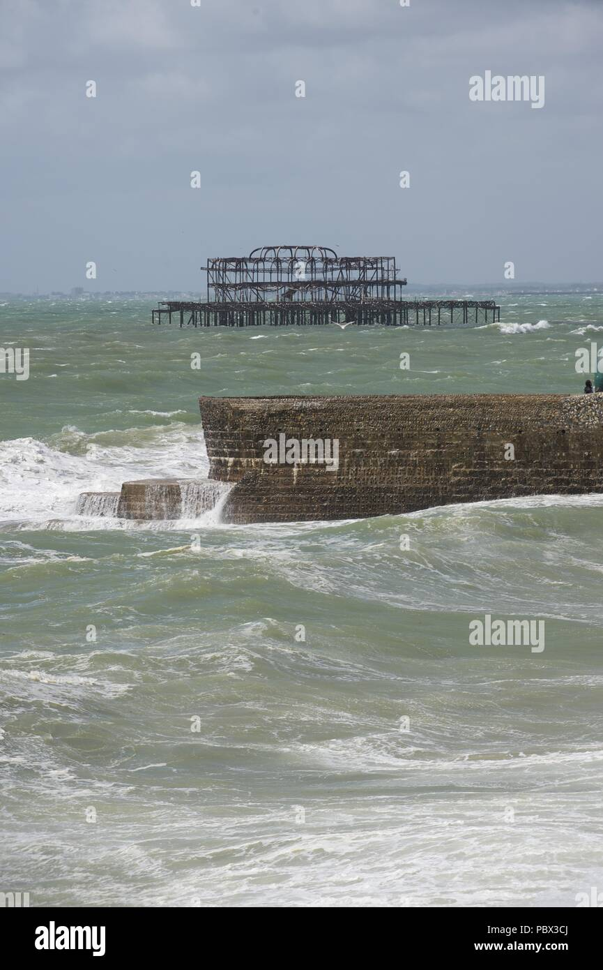 Brighton west pier - Stock Image