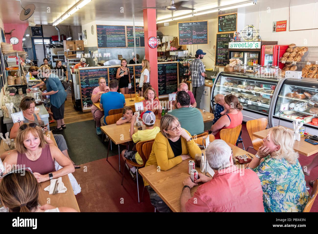 Customers dine at Sweetie's Sandwich Shop; Salida; Colorado; USA - Stock Image