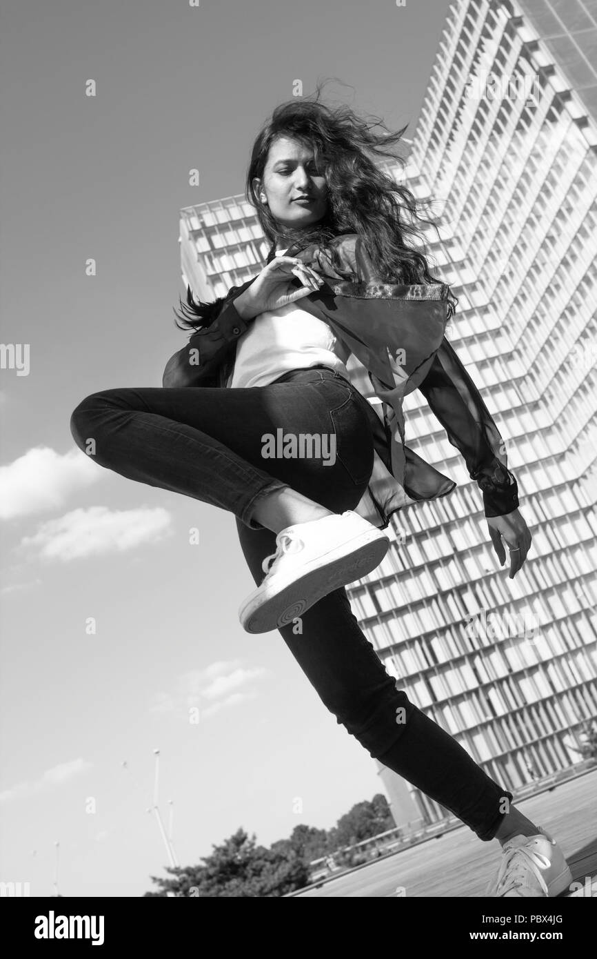 Young Athletic Indian Woman - Stock Image