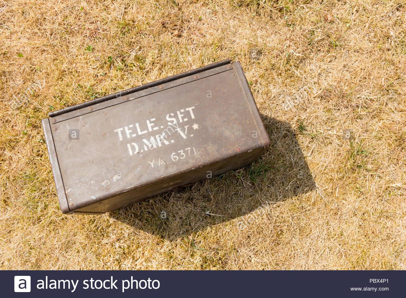 Military Field Telephone - Tele Set D. Mk. V - Stock Image