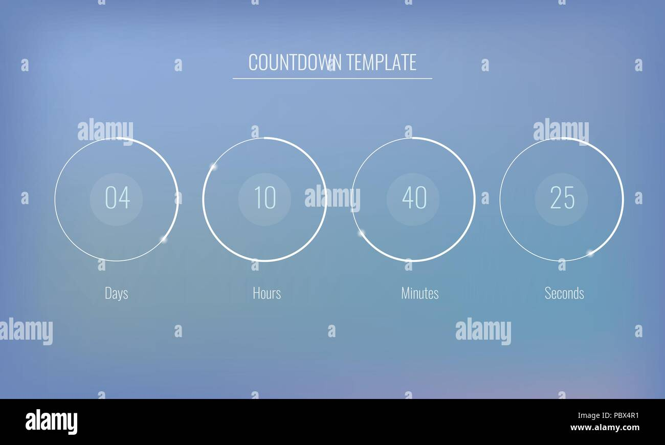 Part of the User interface Clock countdown template for application ...