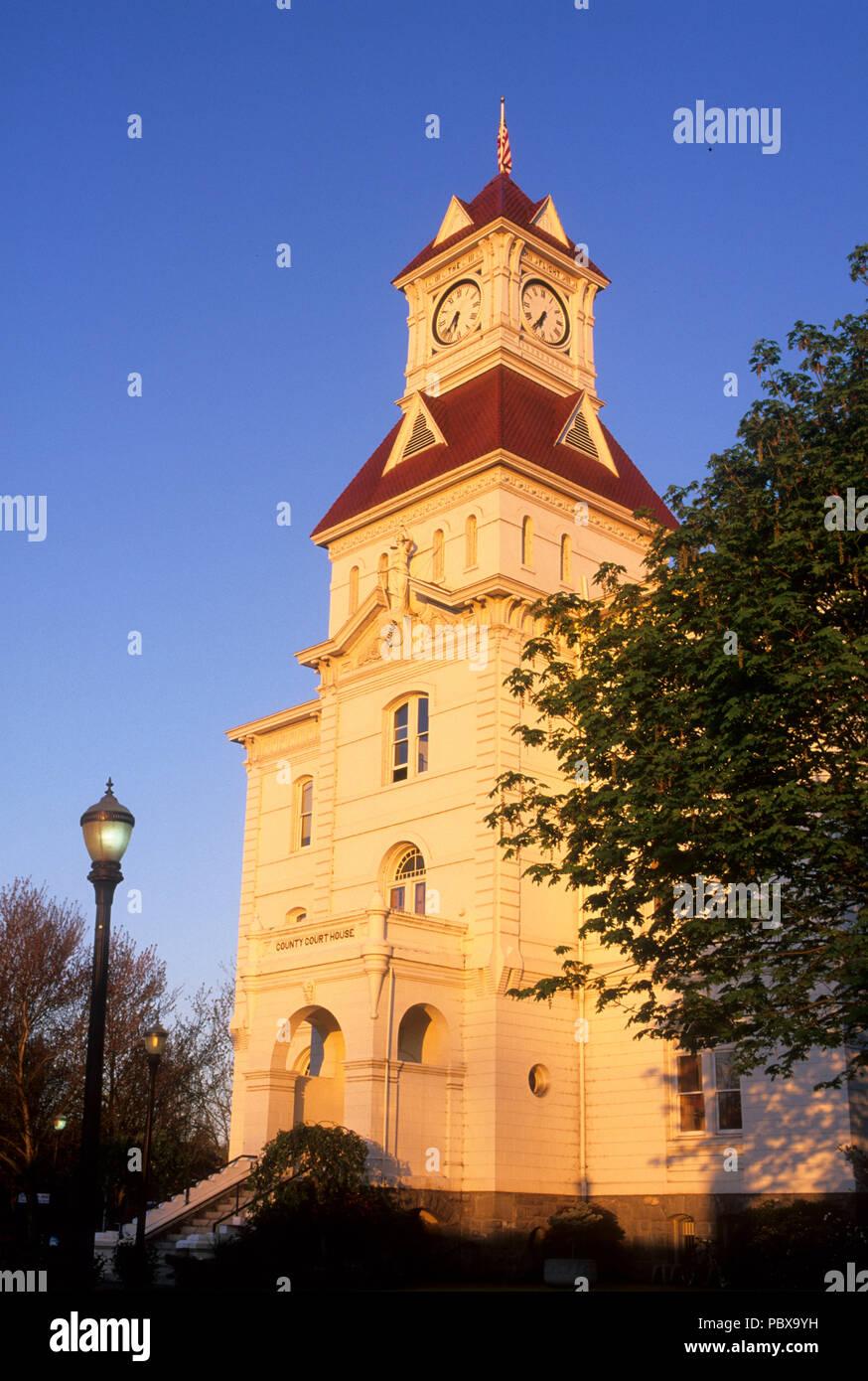 Benton County Courthouse, Corvallis, Oregon Stock Photo