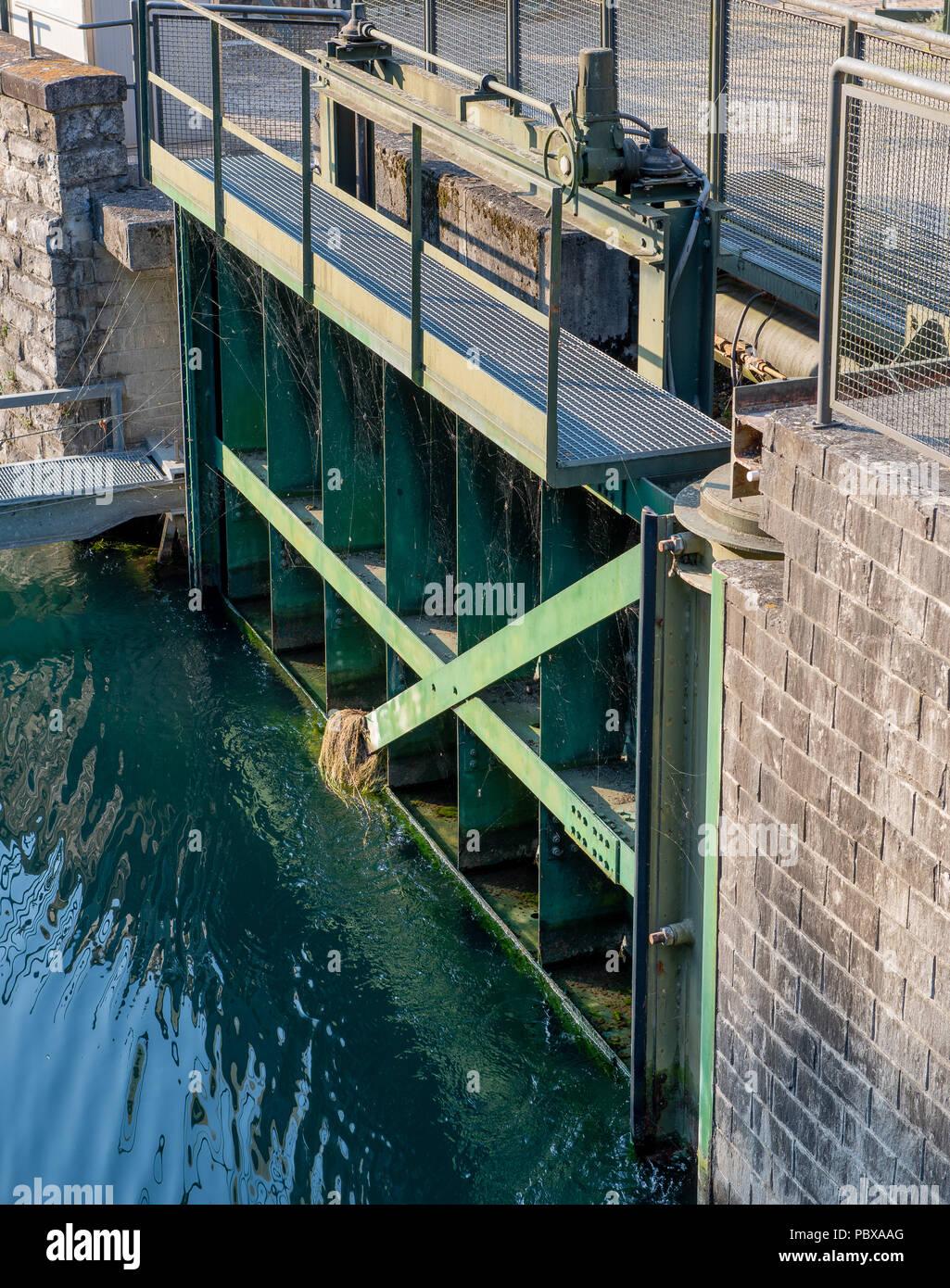 dam on the river adda Stock Photo