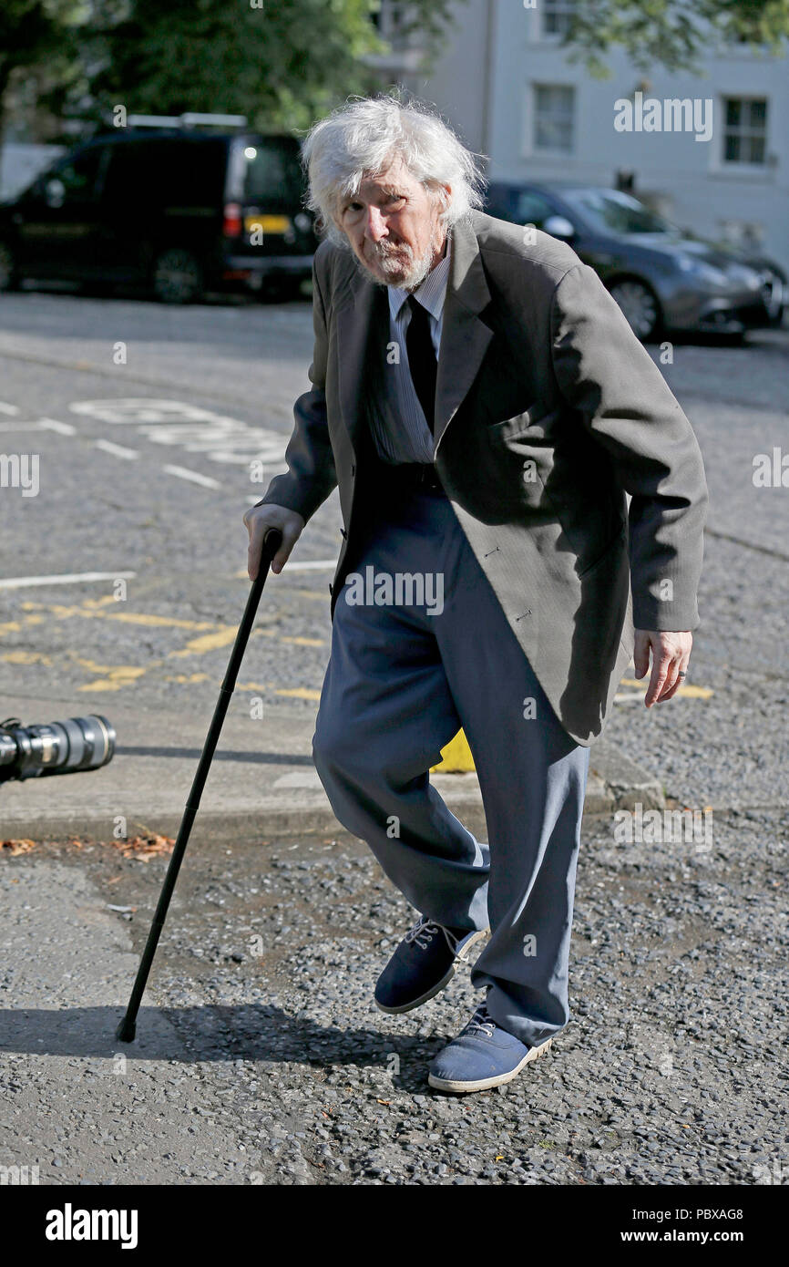 Kenneth Dodds, 69, an armed robber, who tried to use a bus to get away, arrives at Durham Crown Court for sentencing. - Stock Image