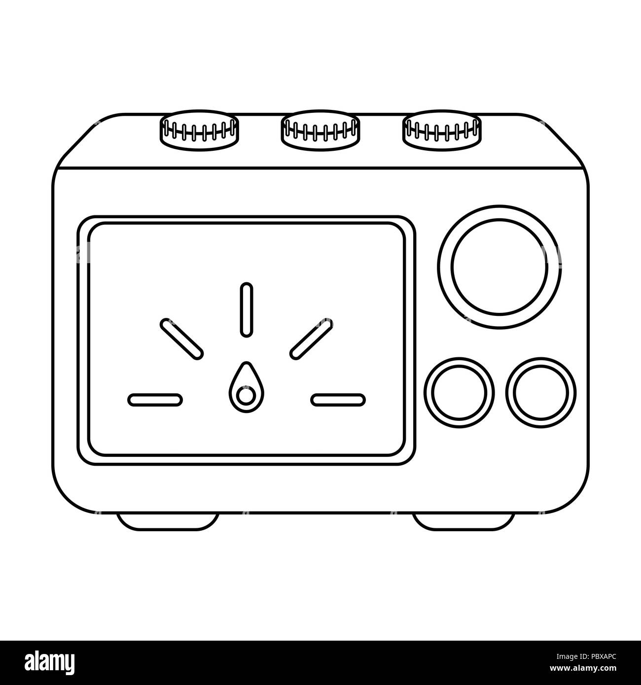 Power supply tattoo icon in outline style isolated on white ...