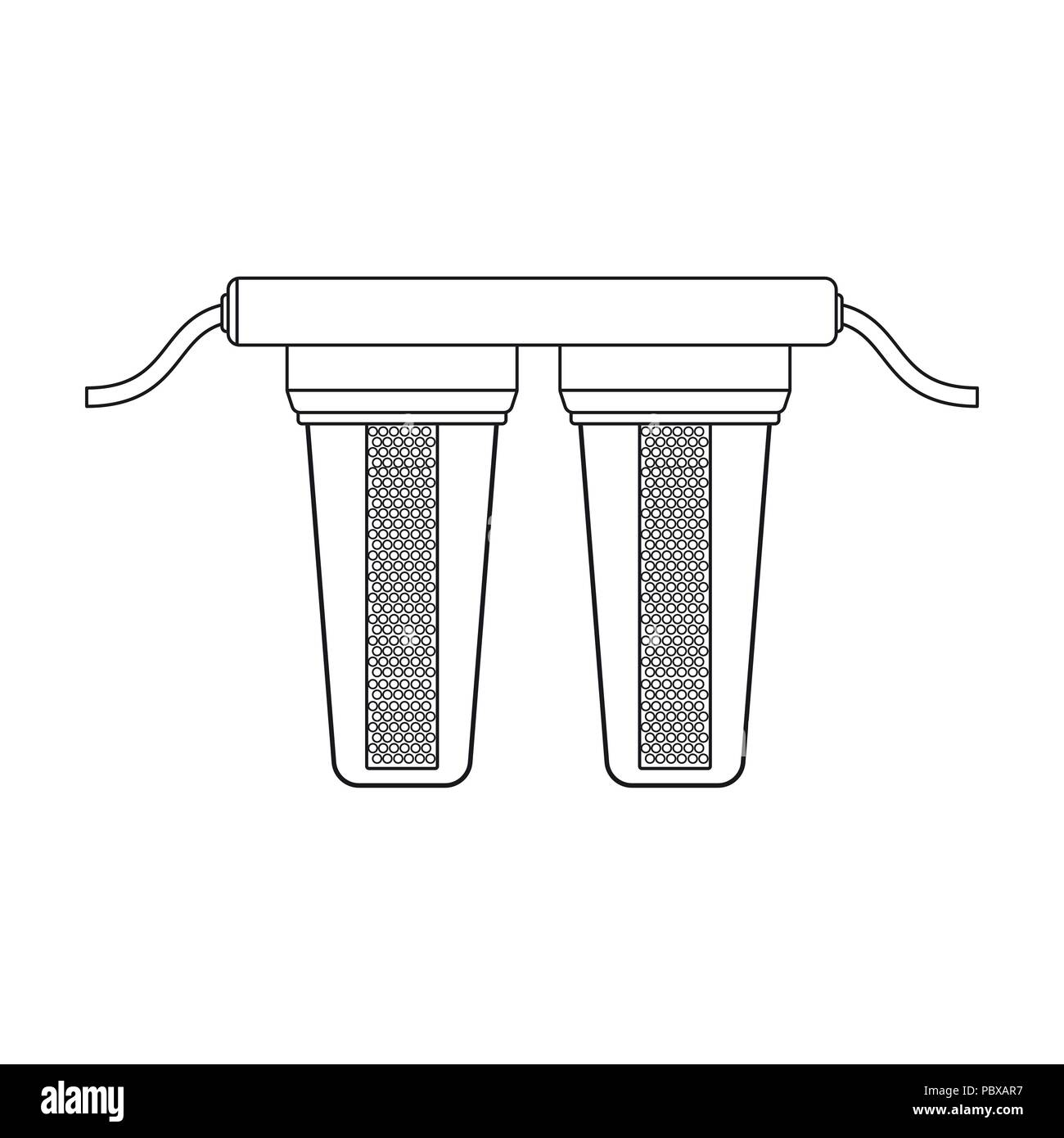 Water Filters Icon In Outline Design Isolated On White Background
