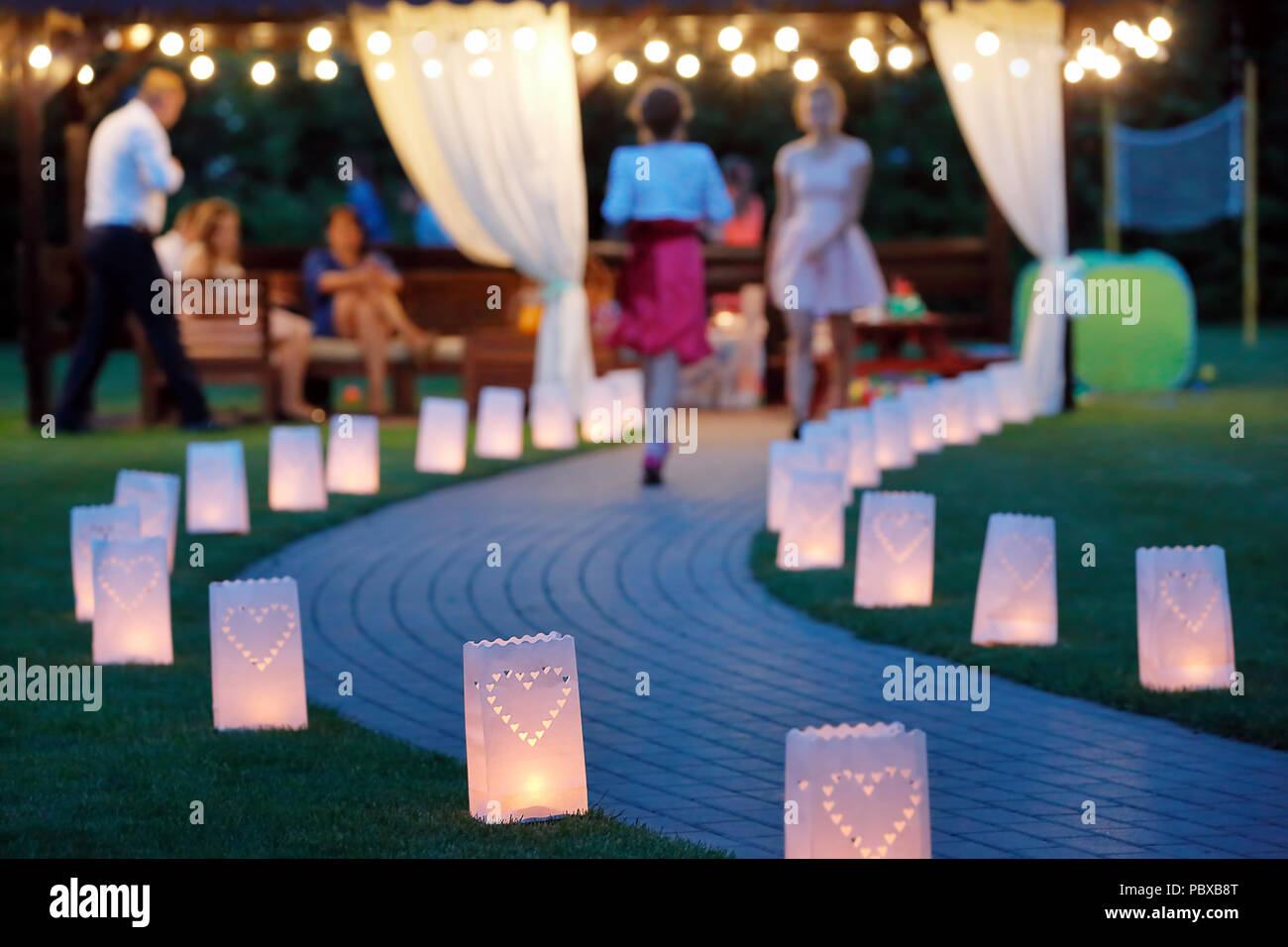 summer house lighting. Lantern Summerhouse And Night Lighting Path For Walks In The Garden Summer House