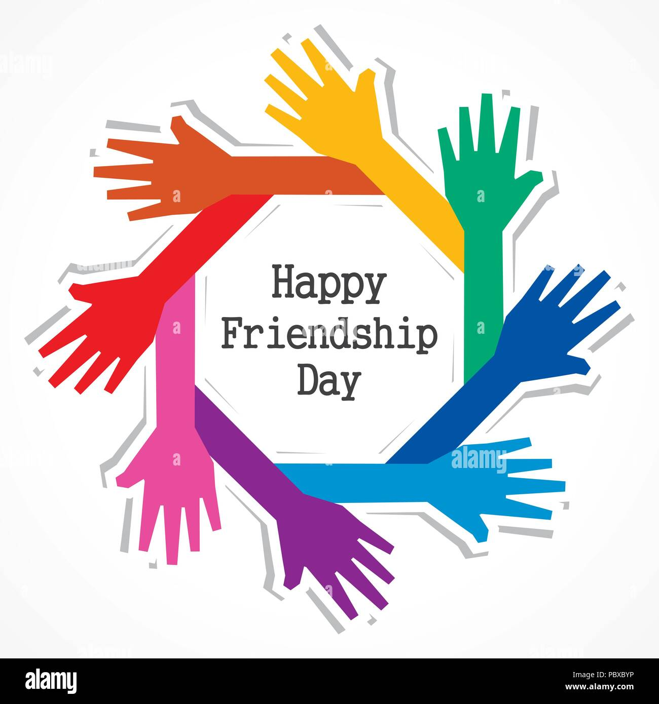 Happy Friendship day vector typographic design. Usable as greeting cards, posters, clothing, t-shirt for your friends.