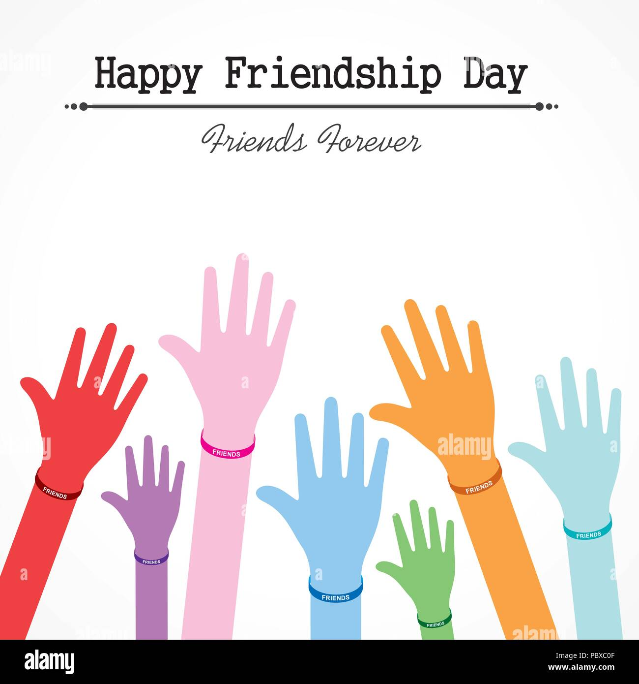 Happy Friendship Day Vector Typographic Design Usable As Greeting