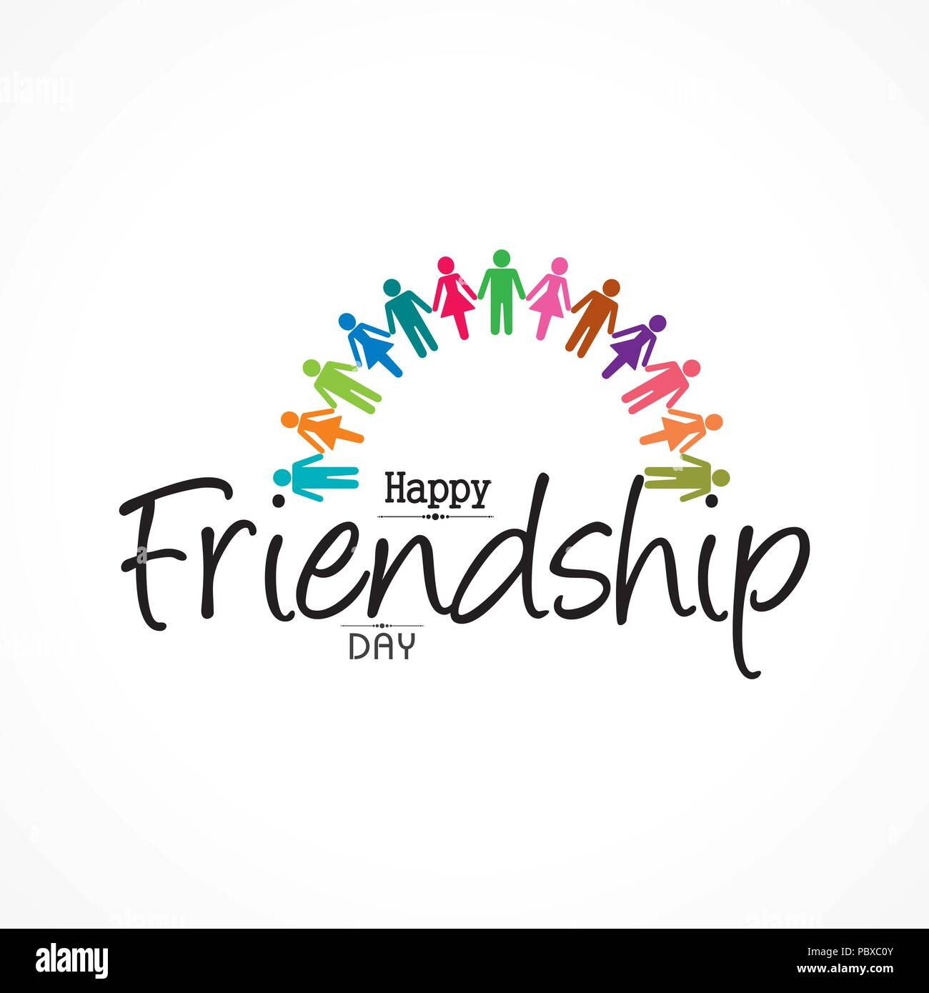 Happy friendship day vector typographic design usable as greeting happy friendship day vector typographic design usable as greeting cards posters clothing t shirt for your friends m4hsunfo