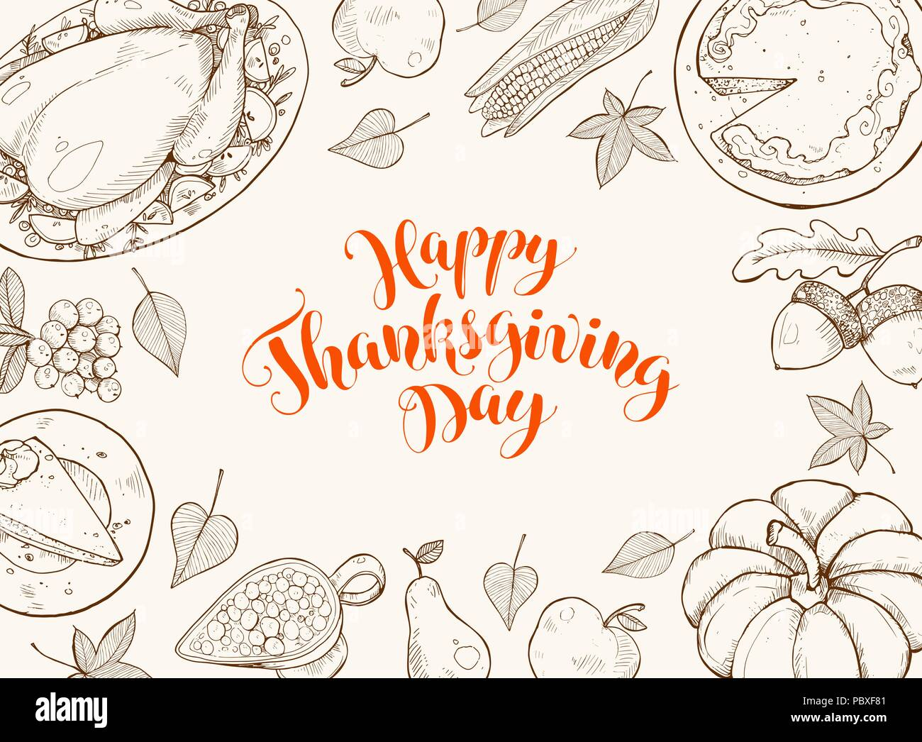Happy Thanksgiving Day Greeting Card Template Thanksgiving Poster