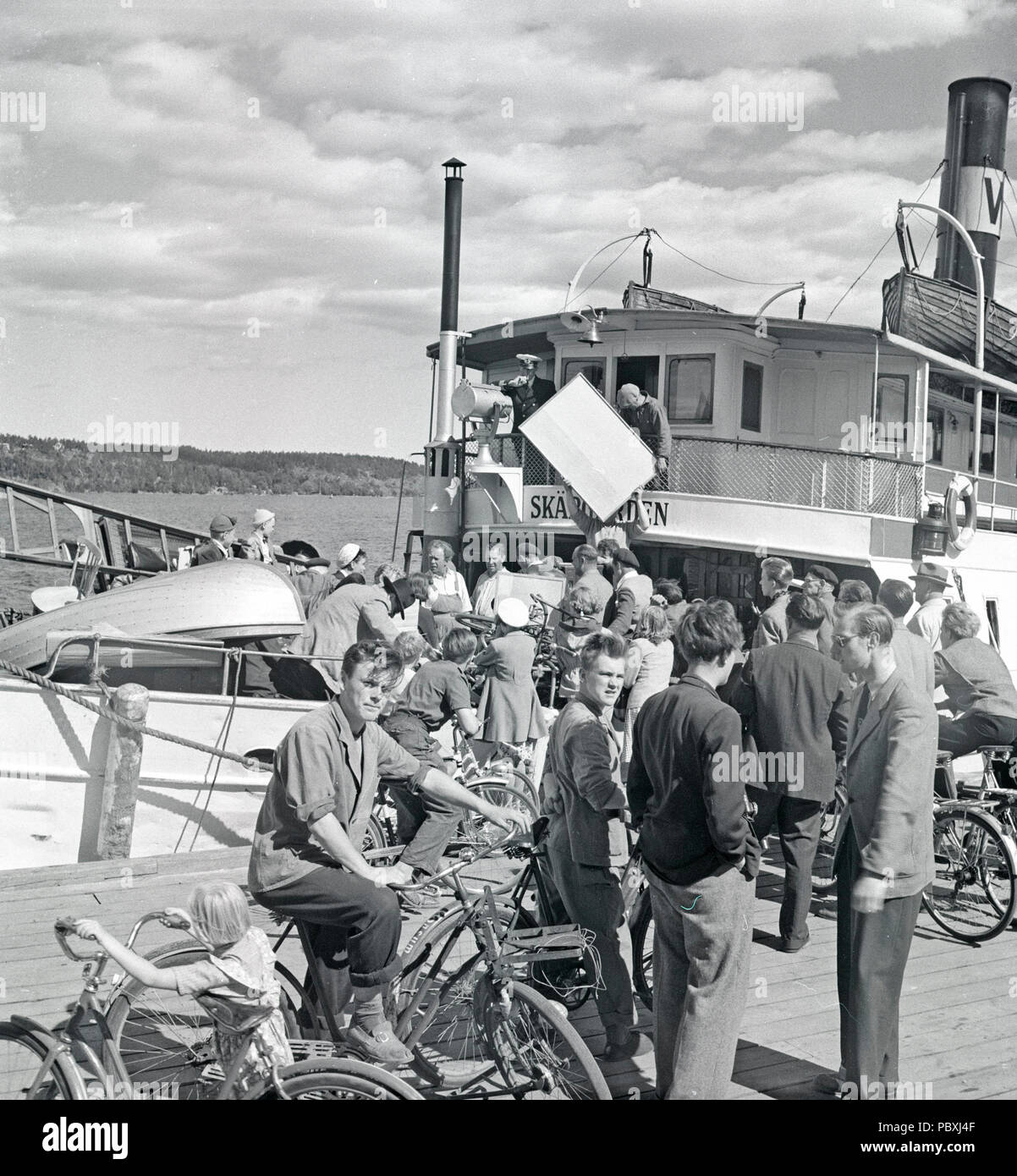 Ingmar Bergman. 1918-2007.  Swedish film director. Pictured here 1950 on the film set of the movie Summer Interlude. The film had premiere 1951. Photographer: Kristoffersson/AZ32-9 - Stock Image