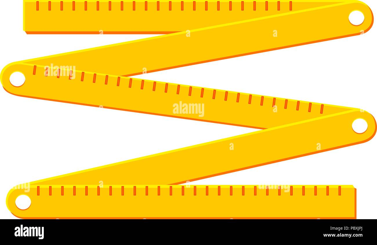 Colorful cartoon folding ruler - Stock Image