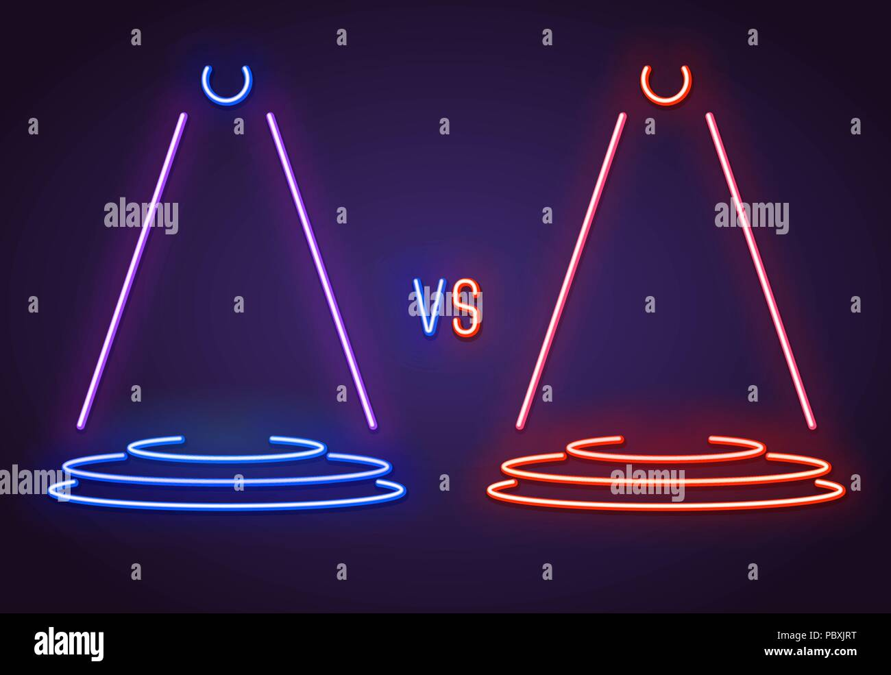 Versus neon sign - Stock Vector
