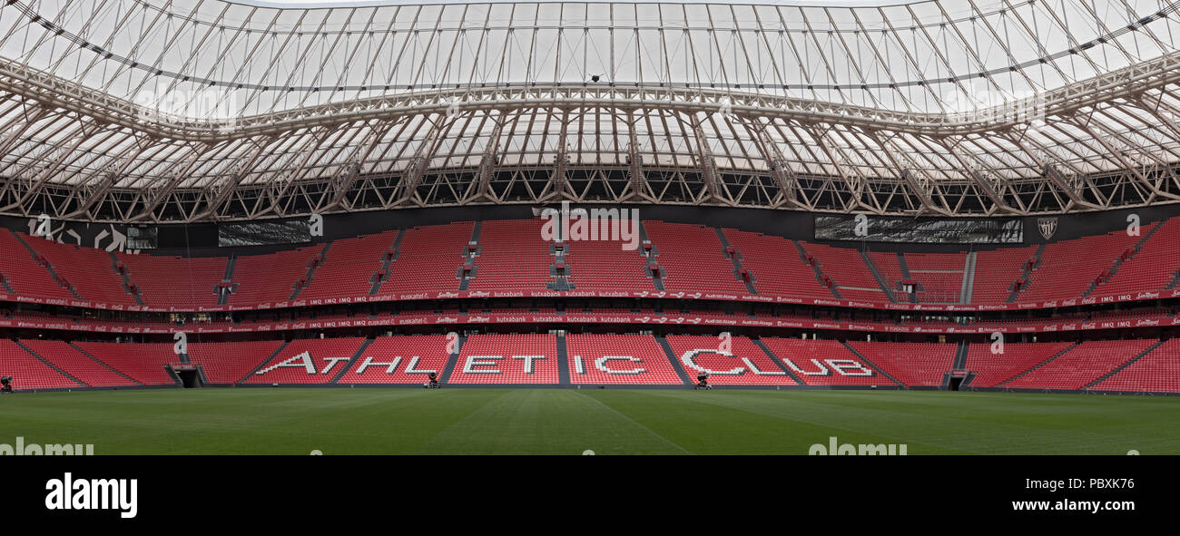 Panoramic view of San Mames, football stadium, home of Athletic club Bilbao, Basque Country, Spain. - Stock Image