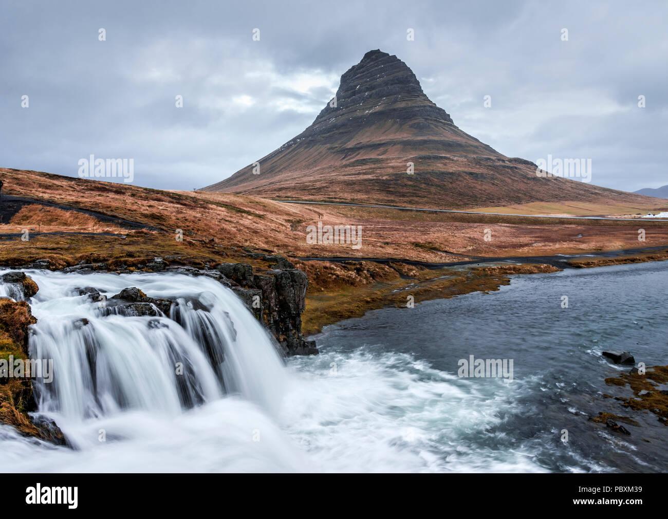 Kirkjufell mountain, Iceland, Europe - Stock Image