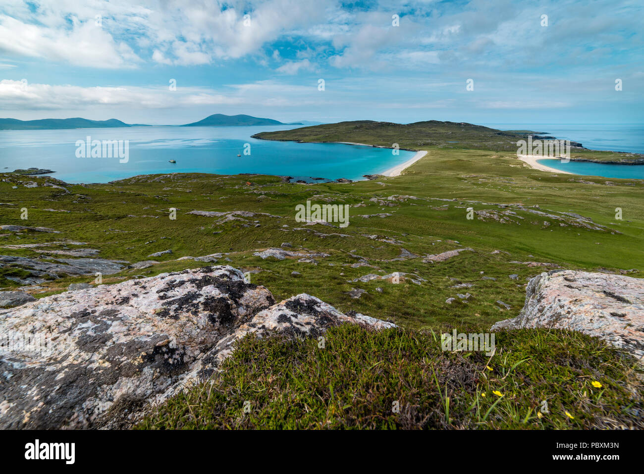 Isle of Taransay landscape, Isle of Harris, Scotland, UK, Europe - Stock Image