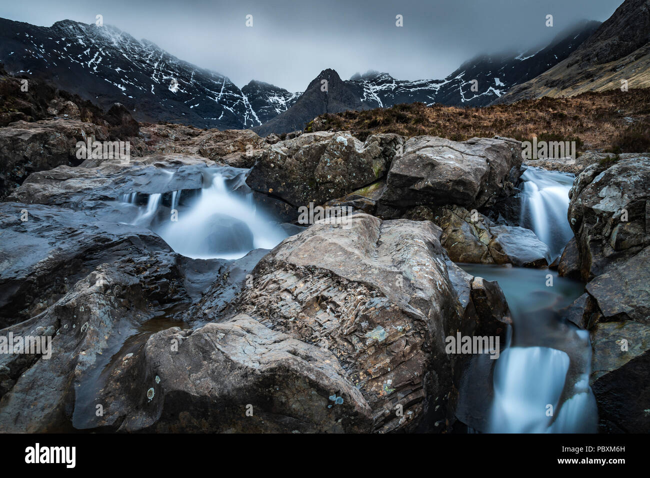 Fairy Pools waterfall, Isle of Skye, Scotland, UK, Europe - Stock Image