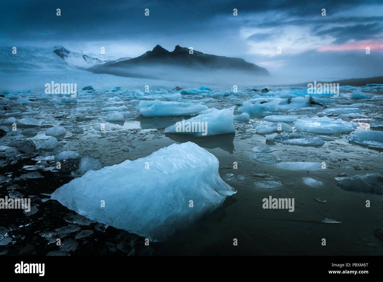 Fjallsarlon lagoon, Iceland, Europe - Stock Image