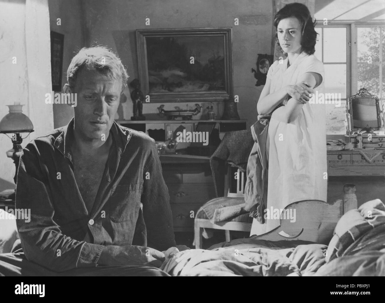 Through a Glass Darkly. Swedish film by Ingmar Bergman 1961 starring Harriet Andersson and Max von Sydow.  Ingmar Bergman. 1918-2007.  Swedish film director. Stock Photo